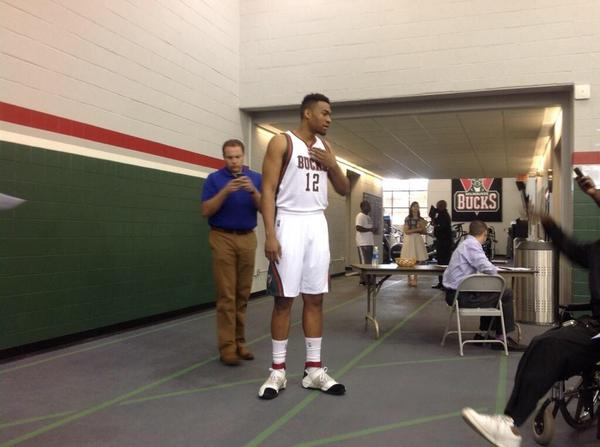. @JabariParker in the 20's though. Oooo. @nicekicks #BucksMediaDay http://t.co/PapH6QYoly