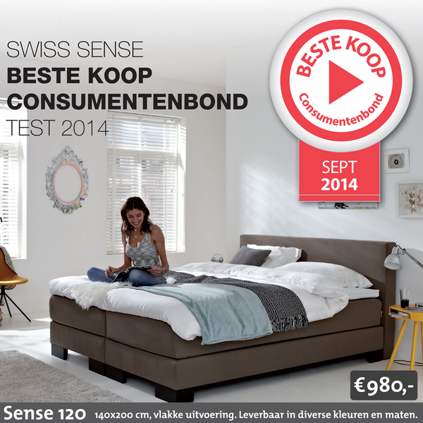 Beste Boxspring Consumentenbond.Swiss Sense On Twitter Onze Boxspring Sense 120 Is Door De