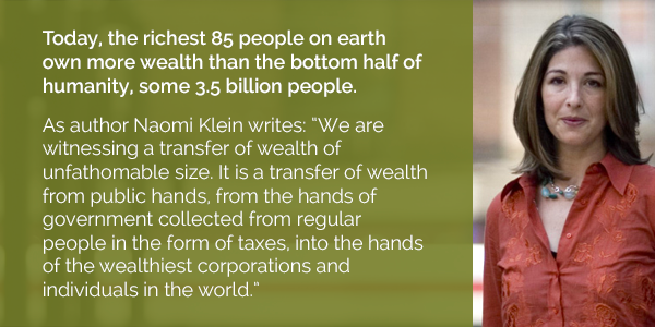 The richest 85 people on earth own more wealth than the bottom half of humanity http://t.co/pnYm6vYd6g