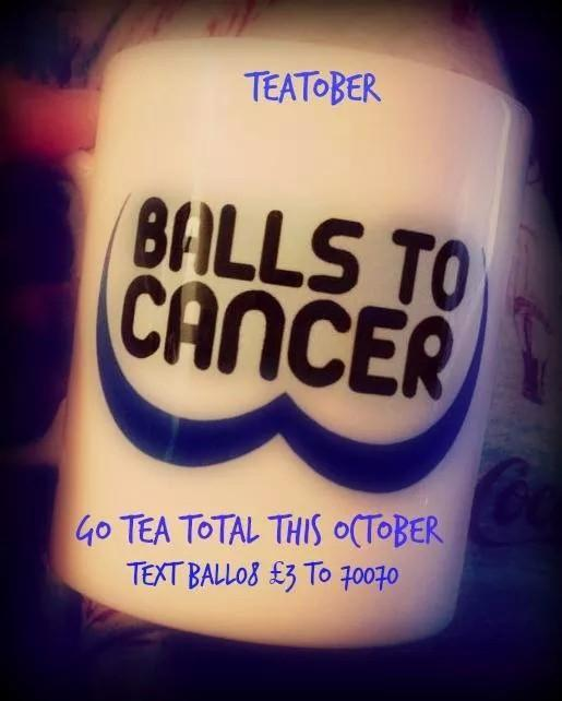 RT @Ballstocancer: @RealDeniseWelch fancy joining us on #Teatober?Stay alcohol free for October and raise funds! simples! Please retweet ht…