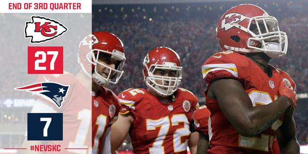 Kansas City Chiefs On Twitter After 3 Quarters The Chiefs Lead