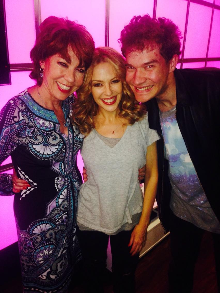 RT @KathyLette: Backstage with @kylieminogue after her sizzlingly sensational 02 show. What can i say but Wow! Wow! Wow wow! http://t.co/LD…