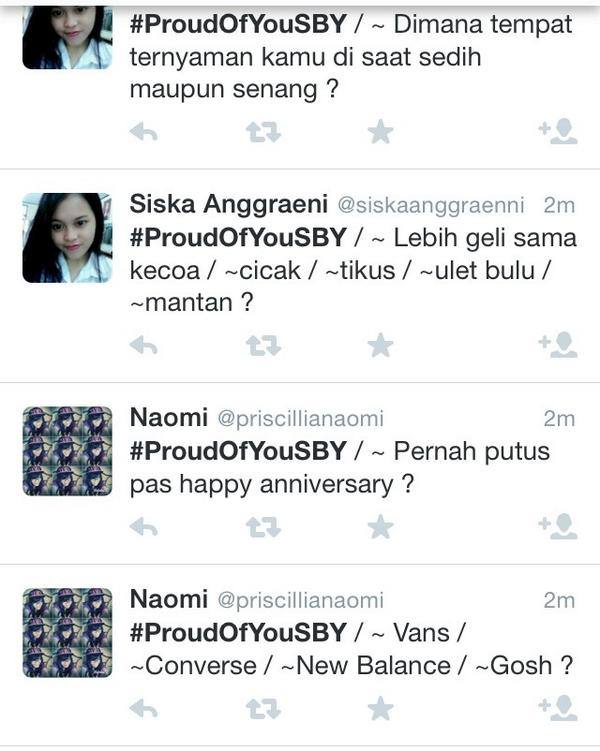 #ProudOfYouSBY is trending topic. But bot generated #pfffttt http://t.co/uXrWh7gHgw