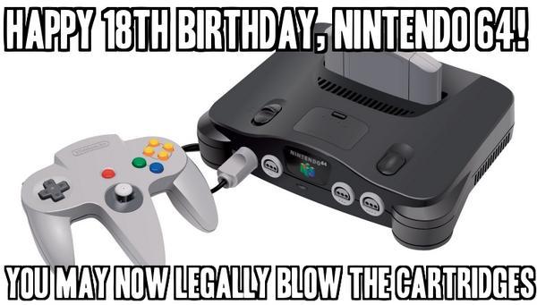 Happy Birthday, Nintendo 64! http://t.co/uMCfuKutlJ