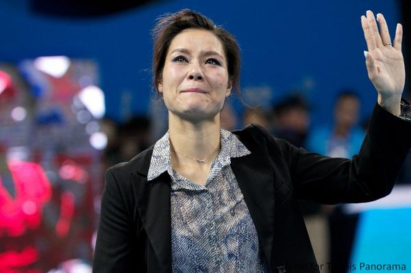 The one and only Li Na. Her retirement ceremony was beautiful. Lovely video she made of her fans called Na Li Zi's http://t.co/ZwfemiYMHt