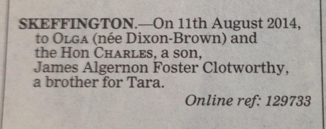 RT @anitathetweeter: From today's Daily Telegraph birth announcements http://t.co/LD9KBjXzZw