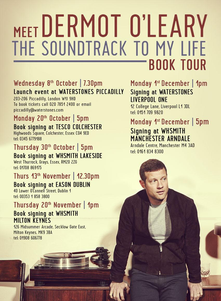 RT @HodderBooks: Get yourself to one of @radioleary's book signings for his new memoir THE SOUNDTRACK TO MY LIFE: http://t.co/4qUwHoqfyA