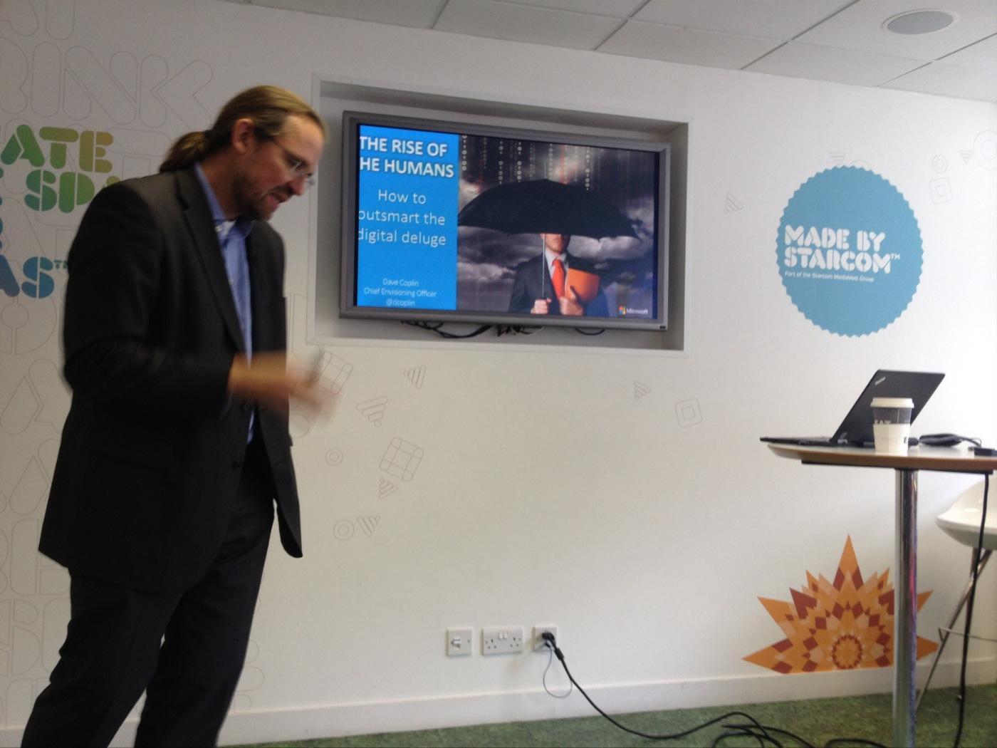 Dave Coplin (@dcoplin) Chief Envisioning Officer @MicrosoftUK is here for #SMGBeyondDigital! http://t.co/giW9L7vamk