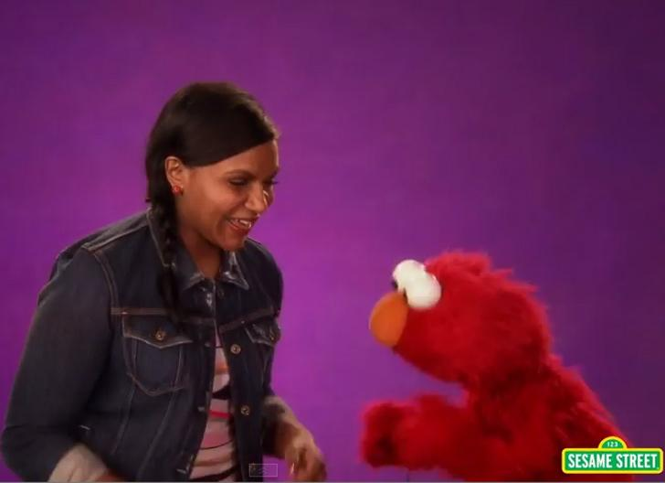 """""""E"""" is for the enthusiasm we feel for @mindykaling's trip to @sesamestreet http://t.co/QqWVdfh1j5 http://t.co/znjJwtaGBd"""
