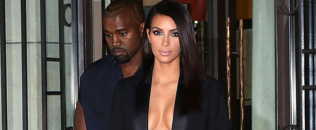 Is Kanye trying to keep up with Kim? #PFW http://t.co/oi2lS2ZzJ5 http://t.co/Q3qZc4Slin