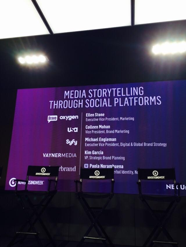 RT @mspec: Media storytelling breakfast with @nbcuniversal @syfytv @interbrand about to begin. cc: @HavasMediaUSA #havasawxi http://t.co/99…
