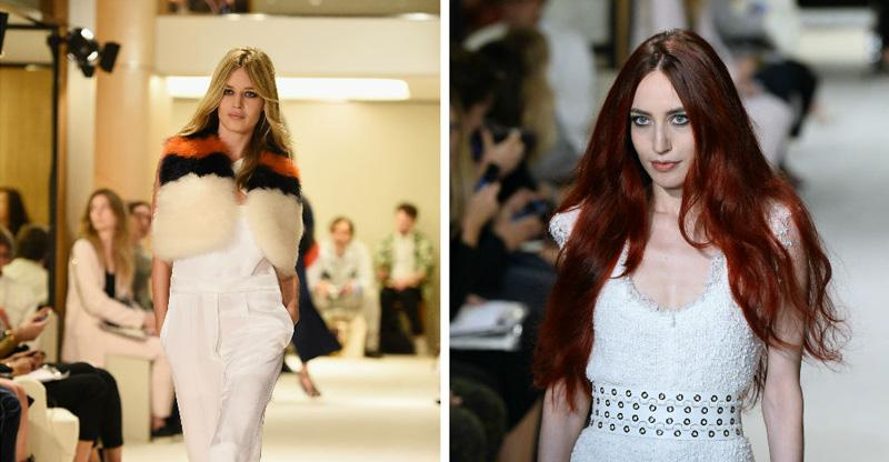 Sisters Lizzy and @GeorgiaMJagger walk the @soniarykiel catwalk together http://t.co/klzGGuVgpn #PFW http://t.co/nfB8NGutm8