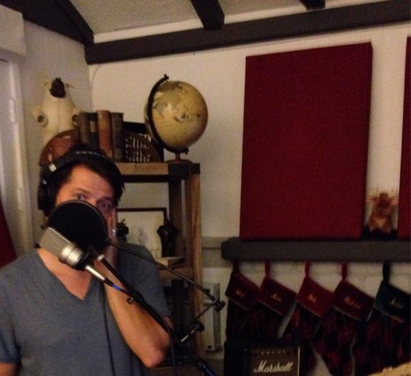Had a mystery guest recording for the Christmas album yesterday... I'll give you a hint, he sang like an angel... http://t.co/SNnFhOlGr1