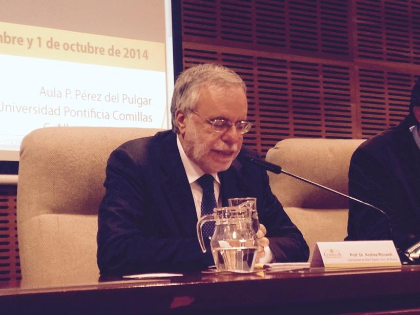 Andrea Riccardi Giornata Teologica Università Madrid