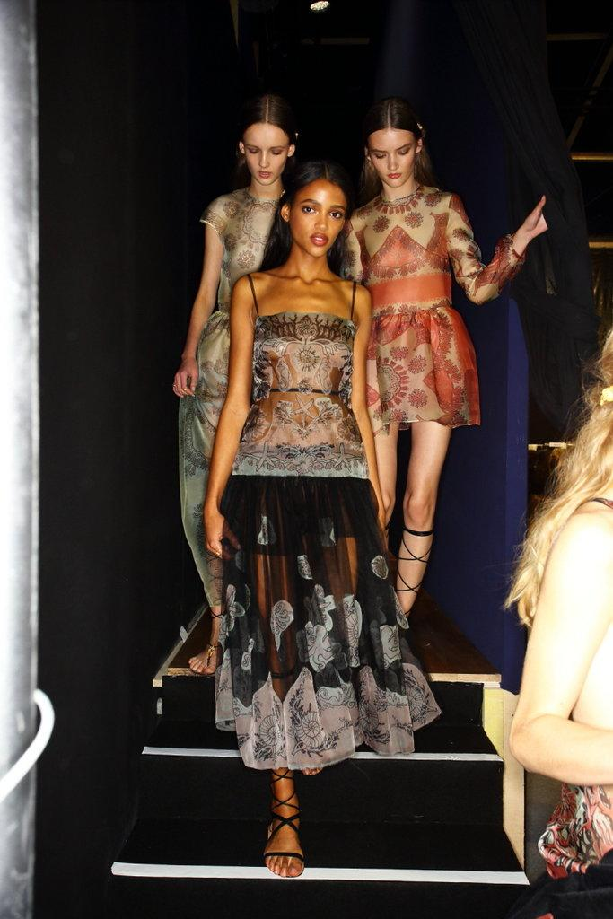 Flower power and sea goddesses @MaisonValentino S/S15. Backstage with @Sonnyphotos #PFW http://t.co/0eAtjqJkiO http://t.co/xqP7JXBaYi