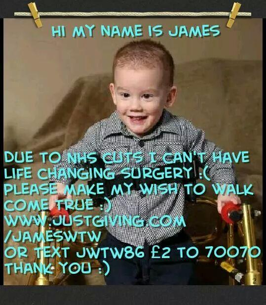 RT @ToriMillsxx: @NolanColeen Plz RT :) Raising £50,000 for my son's life changing surgery http://t.co/BoNhDHdUEI Plz help my boy http://t.…