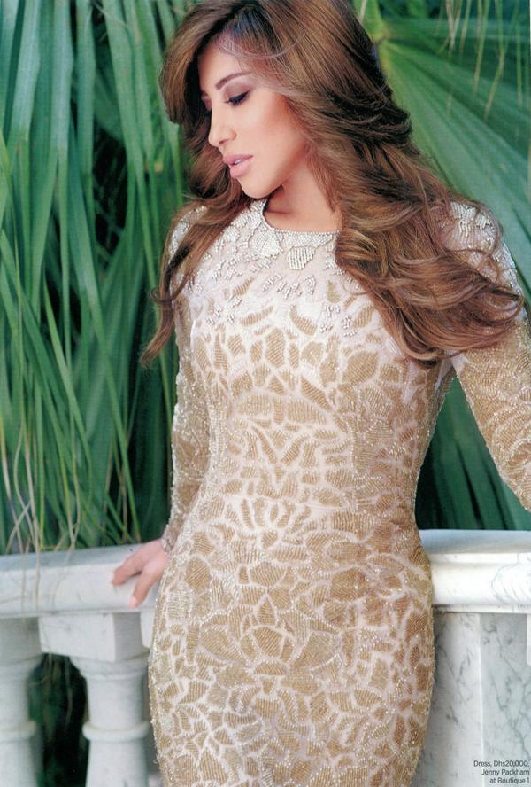#Spotted @najwakaram posing in the beautiful @TheJennyPackham gown. #B1Loves #outfit #gold http://t.co/ueUp5MEpFb