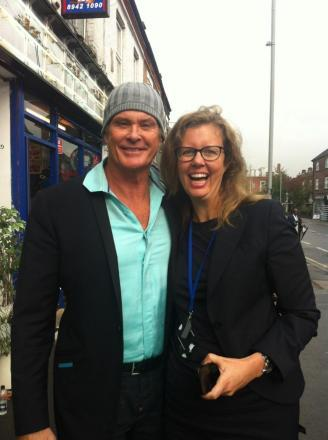 David Hasselhoff spotted filming in New Malden High Street: http://t.co/Oly7Oc7AZc http://t.co/OpM8yHkfgb