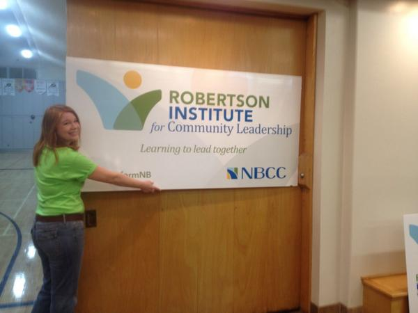 @myNBCC @CatherineLBlack RD Catherine Black putting the final touches on! #transformNB http://t.co/3v8tuSy1p2