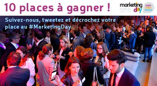Tentez de gagner votre place pour le  #MarketingDay ! Pour jouer, follow + RT Règlement : http://t.co/Ajt25O8fC0 http://t.co/PBueQVcRRn