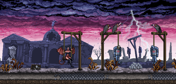 Alexander Zavrin On Twitter Succubus Pixel Art Graphics For The Mobile Game That I Am Working On This Is Graveyard Level Pixelart Pikselart Http T Co T45vguxxbn