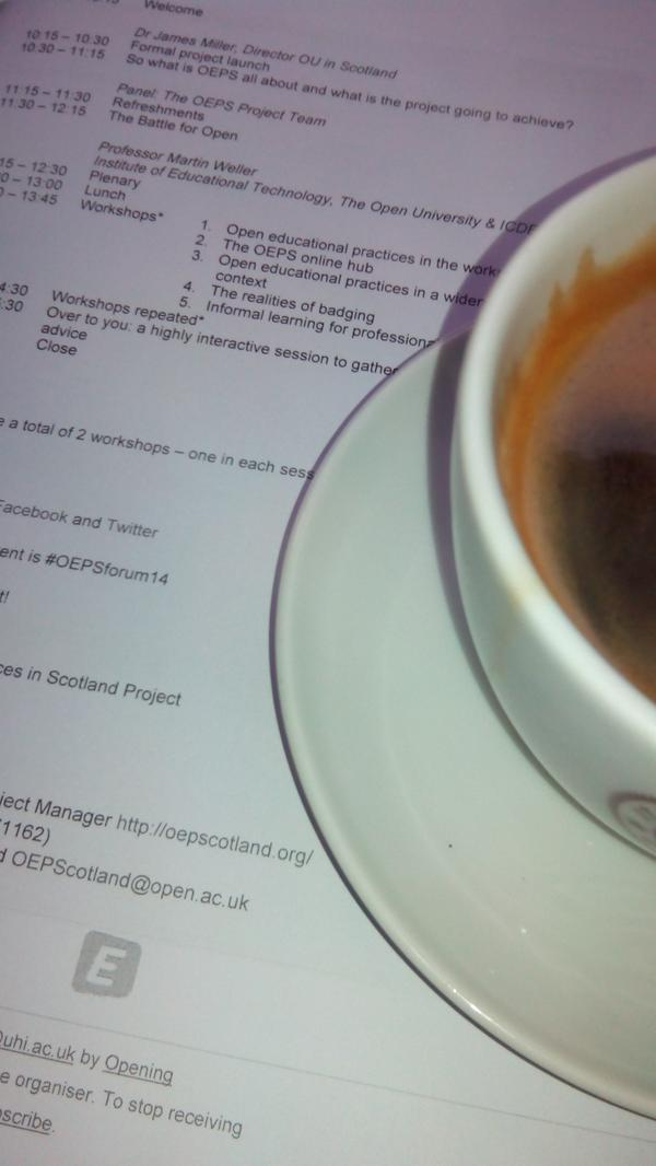 A quick coffee on The Royal Mile before #OEPSforum14 http://t.co/gZpE9LEqtm