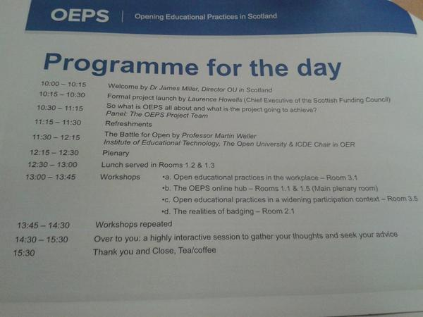Here in # Edinburgh for #oepsforum14 http://t.co/cQyIYgjpSN