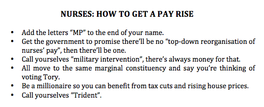 Top tips for nurses on how to get a pay rise #NHSstrike http://t.co/jKcSsQrojj