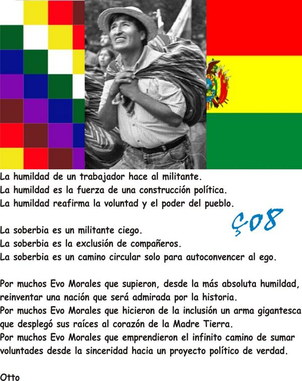 Por muchos Evo Morales! #EvoMorales #BoliviaVoto2014 #Bolivia #BoliviaDecide #EleccionesBolivia <br>http://pic.twitter.com/lHBxQaO6ST