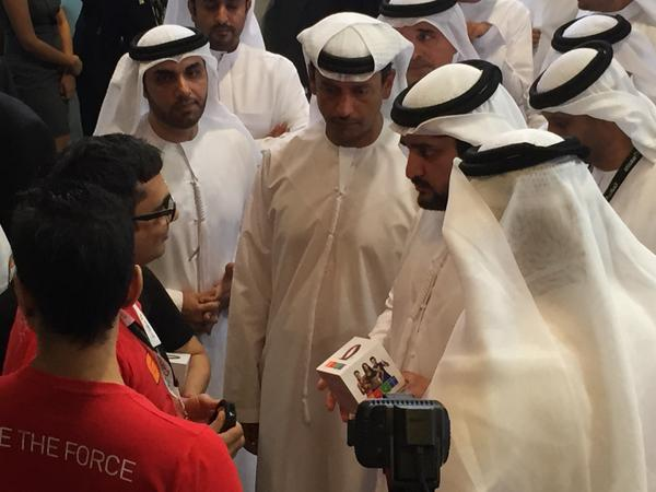 Honored by visit of HH Sh Maktoum Bin Mohammad to #GOQii Wellness booth at #Etisalat #GITEX2014 stand @vishalgondal http://t.co/0DSJyfB3iA