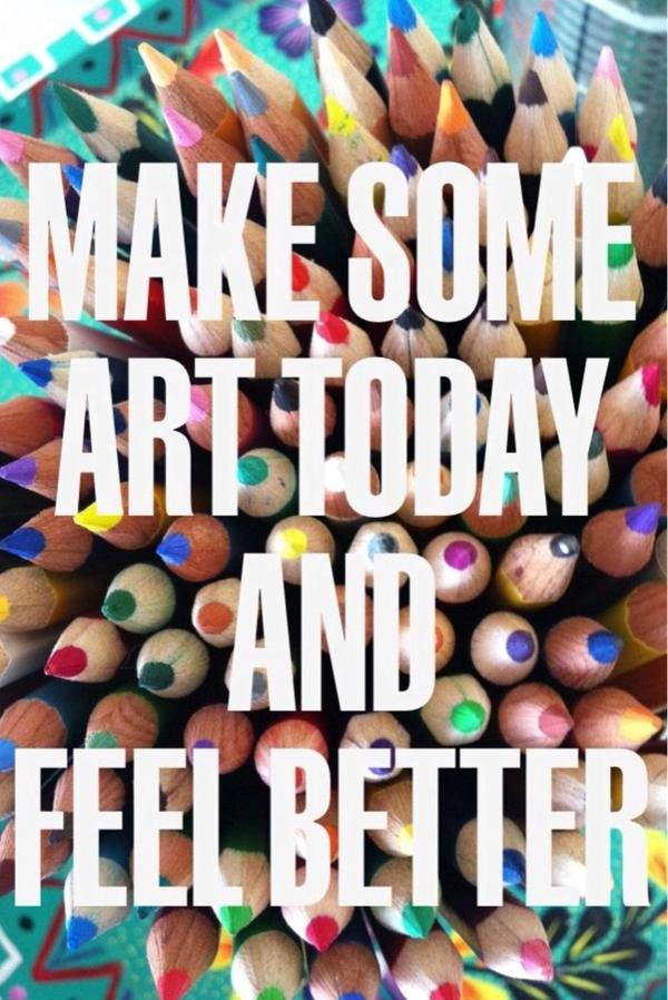 Make some art today and feel better #arttherapy #art #Creativity http://t.co/LpV3QDMfaP