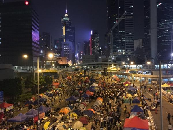More people than I'd thought would be here at #OccupyHK tonight. But for how long? http://t.co/VEODb7NSof