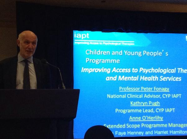 Peter Fonagy next on stage in a packed programme at #CYPIAPT @NHSEngland http://t.co/wVlcKEendI