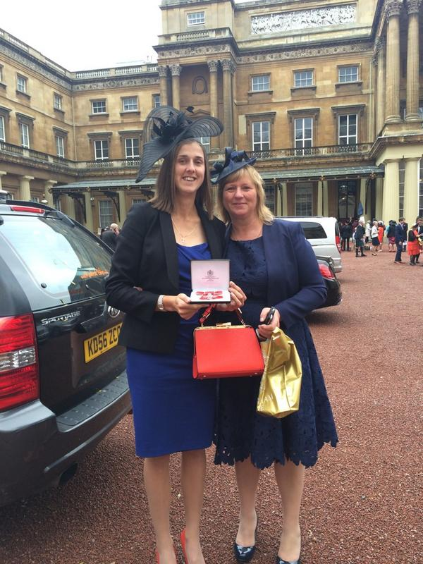 Truly honoured to receive my MBE and meet some outstanding people today. Not your average day!! http://t.co/KCNDRE04nw
