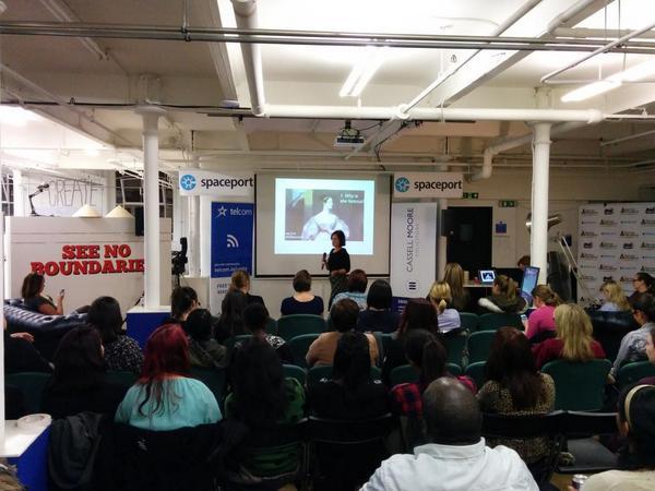 """Talks underway! """"who is #AdaLovelace?"""" by @VicSorzano #300secs #MCRTOP5 http://t.co/CNvmvRBRja"""