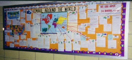 A3 Email Around the World project http://t.co/ZwesIrdaWD Made the most read bulletin board in school. #txlchat http://t.co/NrDBrvTnvB