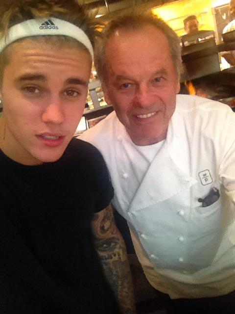 With my new sous Chef cooking  steak in the kitchen  at Spago http://t.co/qNjFEnI6fh