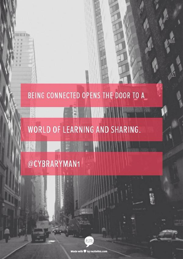 Techbrarians should lead the way in their schools connecting teachers & students globally.  #txlchat http://t.co/zTXub4NDEy