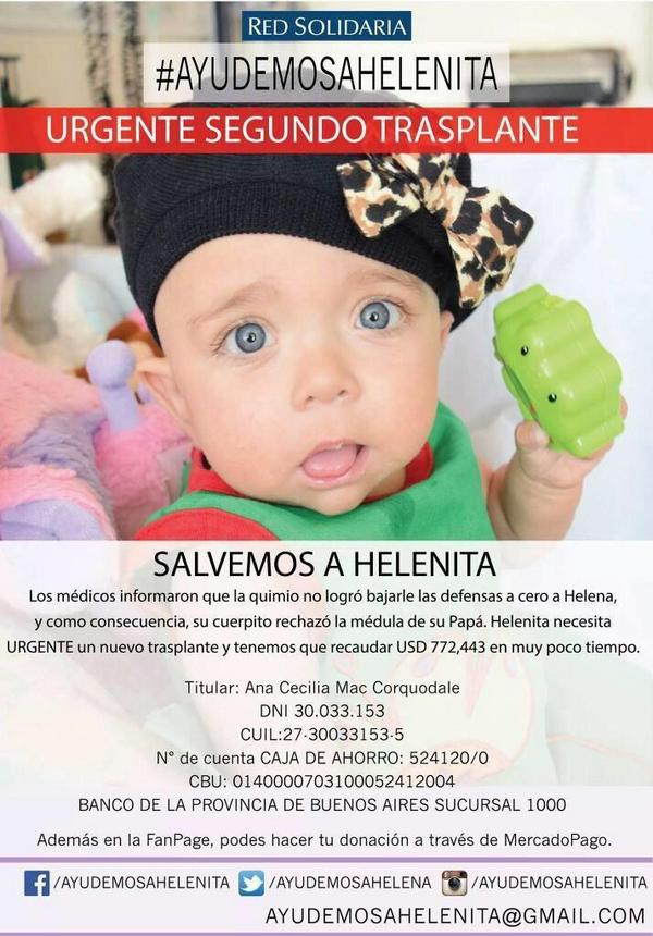 Necesita un poco de todos! #AyudemosAHelenita http://t.co/0GQnTVmxUZ