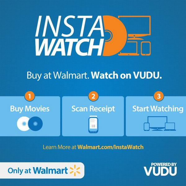 Vudu Movies Tv On Twitter Introducing Instawatch Buy Dvds Blu