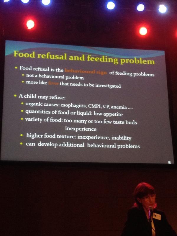 #inoea rifiuto del cibo non deve essere consuderato problema comportamentale ma sintomo di un problema nutrizionale http://t.co/JaE58rlllA
