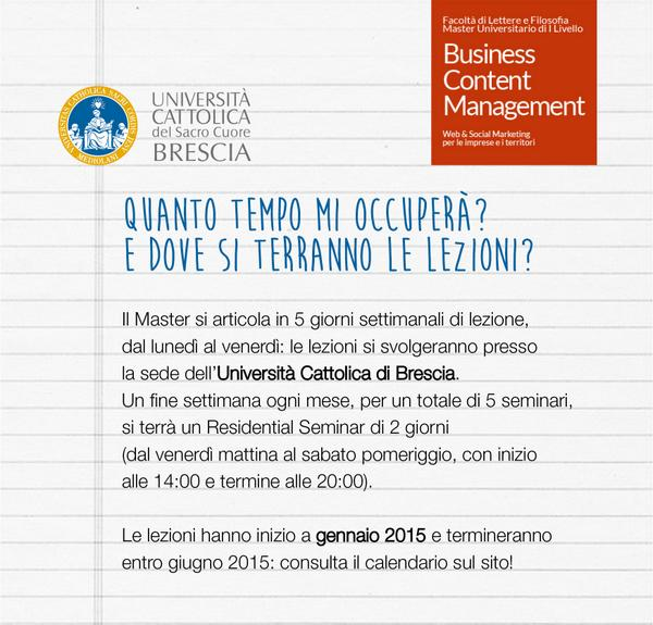 Calendario Lezioni Unicatt.Master Bcm Cattolica Masterbcmunicat Twitter