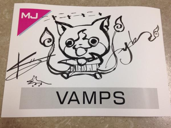 MUSIC JAPAN収録なう!HYDEさん作のジバニャン!!ちょー似てますね🎶Program filming for MUSIC JAPAN now. Look!!HYDE drew this by himself!!M pic.twitter.com/CeTiuLCmUj