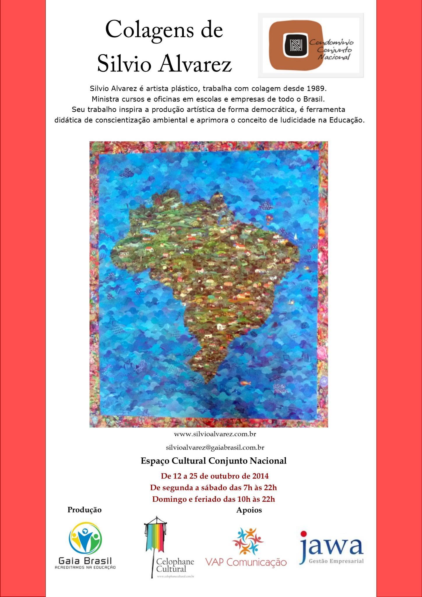 De 12 a 25 de outubro estarei presente no espaço da minha exposição para receber os amigos - Conjunto Nacional http://t.co/w53NAEUPMd