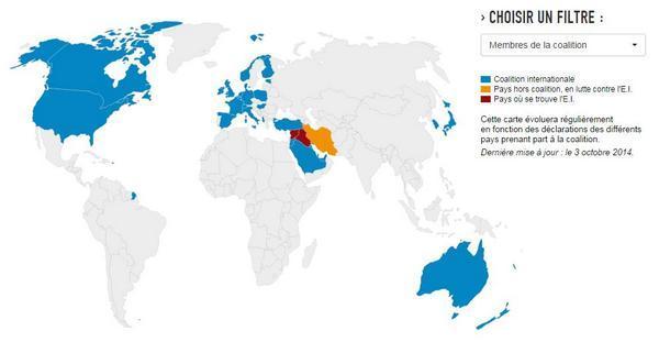 日本もしっかり入ってる! 【ル・モンド】『イスラム国攻撃連合軍』http://t.co/Kcdroizyzl http://t.co/EgYZedW05o