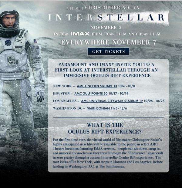 Step inside the @Interstellar @Oculus Experience! http://t.co/oDvLekxhWk #InterstellarIMAX #VR #vfx http://t.co/CoIV7YFiy0