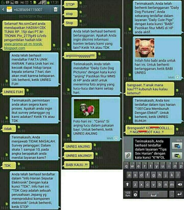 SMS LUCU 13