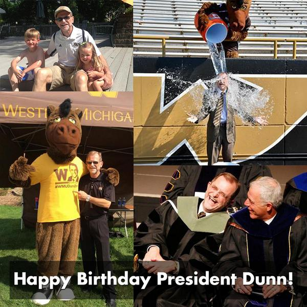 Happy Birthday @WMUPrezDunn from the MyWMU team!  RT and send him good wishes! http://t.co/B2v5SOZ10H