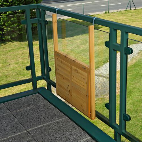 Tabla mesa colgante plegable de balc n de madera acacia - Mesa colgante para balcon ...