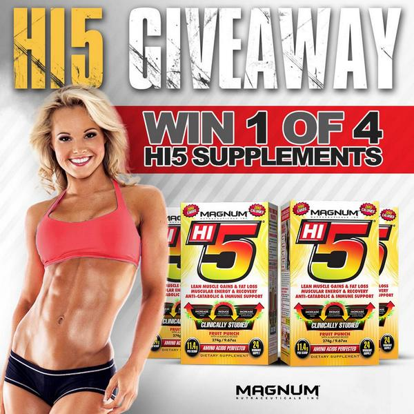 GIVEAWAY ALERT! RT to win a container of Hi5! US/CAN only, winners announced Monday! http://t.co/luYBT6r7YM